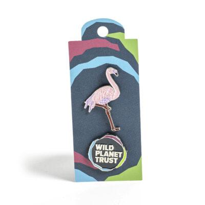 Double Flamingo Pin Badge