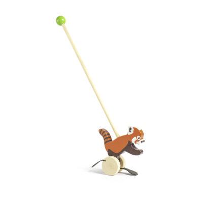 Push Red Panda Wooden Toy